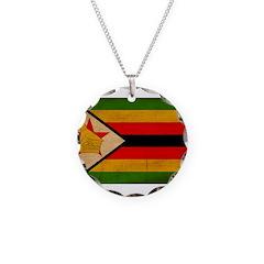 Zimbabwe Flag Necklace