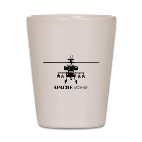 Apache AH-64D Shot Glass