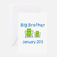 Big Brother Frogs 0113 Greeting Card
