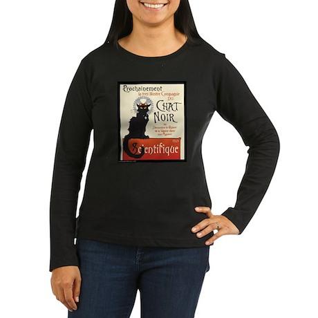 Chat Scientifique Women's Long Sleeve Dark T-Shirt