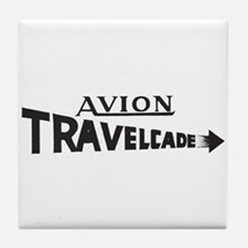 Early Travelcade Logo Tile Coaster