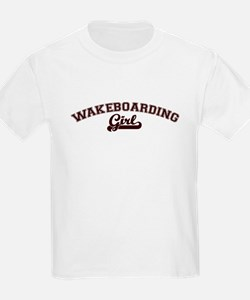 Wakeboarding girl Kids T-Shirt