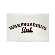 Wakeboarding girl Rectangle Magnet