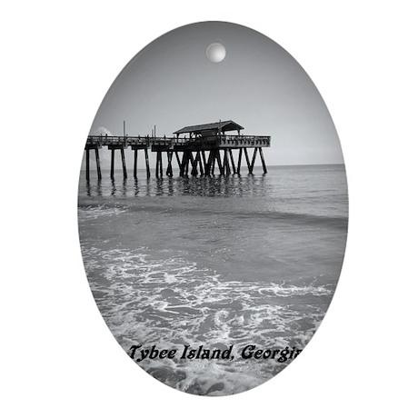 Tybee Island Pier & Pavilion Ornament (Oval)