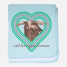 Owl love you forever - baby blanket
