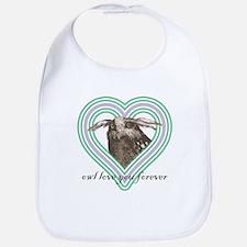 Owl love you forever - Bib