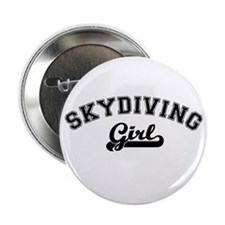 Skydiving girl Button