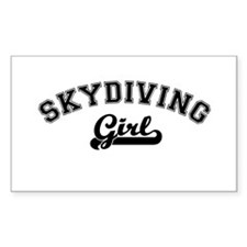 Skydiving girl Rectangle Decal