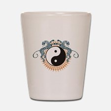 Yin Yang Symbol Shot Glass