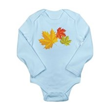 Three Leaves Long Sleeve Infant Bodysuit