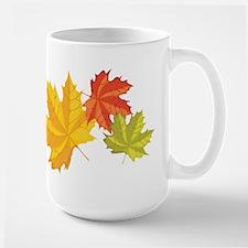 Three Leaves Large Mug