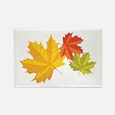 Three Leaves Rectangle Magnet