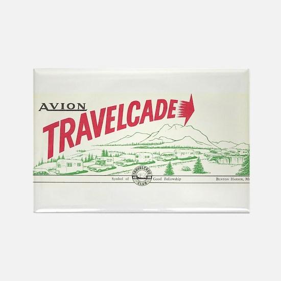 Avion Travelcade Club Mounta Rectangle Magnet