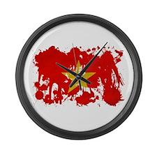 Vietnam Flag Large Wall Clock