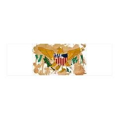 Virgin Islands Flag 21x7 Wall Peel