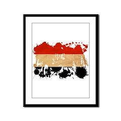 Yemen Flag Framed Panel Print