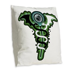 Eclectic Solitary Suede Pillow
