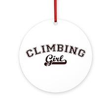 Climbing girl Ornament (Round)
