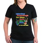 Lab Week 2012 Women's V-Neck Dark T-Shirt