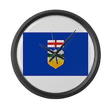 Alberta Flag Large Wall Clock