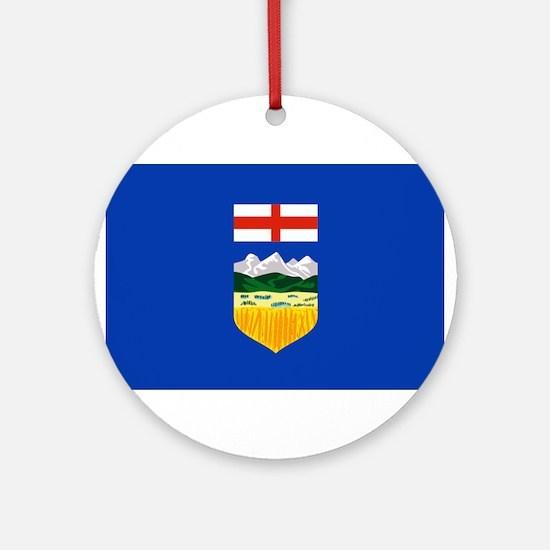 Alberta Flag Ornament (Round)