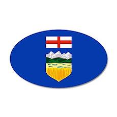 Alberta Flag 22x14 Oval Wall Peel