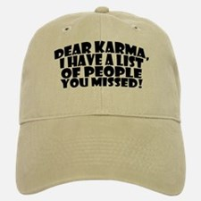 Dear Karma Baseball Baseball Cap (tan Or Wht)
