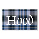 Tartan - Hood Sticker (Rectangle)