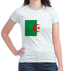 Algeria Flag Jr. Ringer T-Shirt