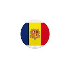 Andorra Flag Mini Button (10 pack)