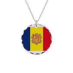 Andorra Flag Necklace