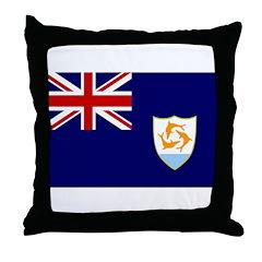 Anguilla Flag Throw Pillow