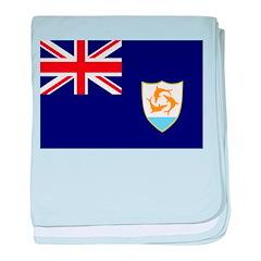 Anguilla Flag baby blanket