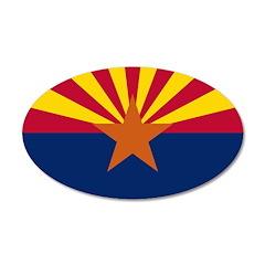Arizona Flag 22x14 Oval Wall Peel