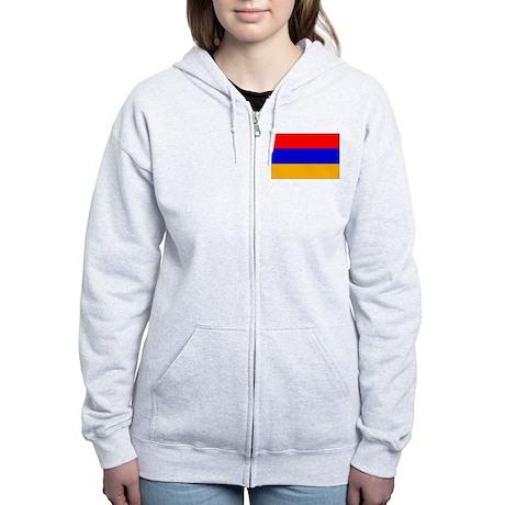 Armenia Flag Women's Zip Hoodie
