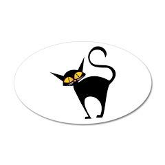 Black Cat 22x14 Oval Wall Peel