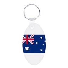 Australia Flag Aluminum Oval Keychain