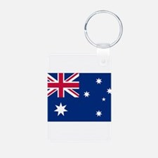 Australia Flag Aluminum Photo Keychain