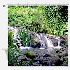 Hahalawe Falls Maui Tropical Shower Curtain