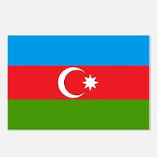 Azerbaijan Flag Postcards (Package of 8)