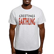 Greetings Earthling Ash Grey T-Shirt