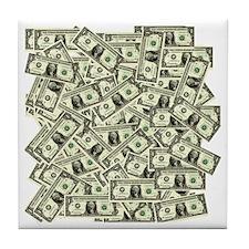 Money! $100 to be exact! Tile Coaster