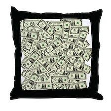Money! $100 to be exact! Throw Pillow