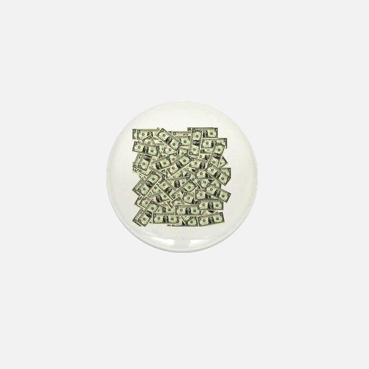 Money! $100 to be exact! Mini Button