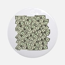 Money! $100 to be exact! Ornament (Round)