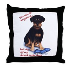 Chewed Suede Throw Pillow