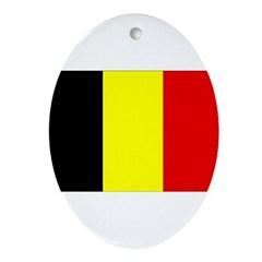 Belgium Flag Ornament (Oval)