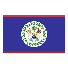 Belize Flag Decal