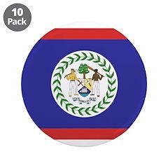 "Belize Flag 3.5"" Button (10 pack)"