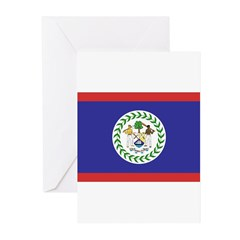 Belize Flag Greeting Cards (Pk of 20)